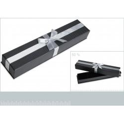 Ecrin cartonné gris pour bracelet petit noeud obrillant-bijoux