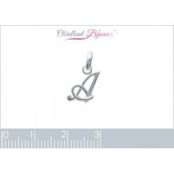 pendentif argent 925 lettre S style baroque Obrillant-Bijoux