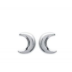 Boucles d'oreilles en argent 925/000 rhodié puces enfant lune obrillant-bijoux