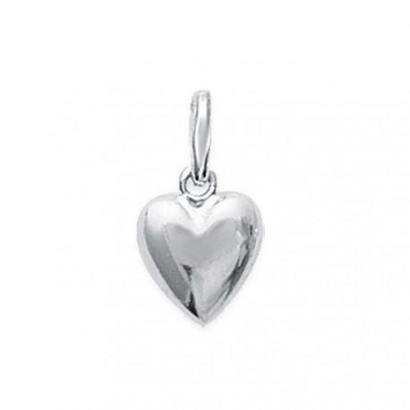 Pendentif argent 925 petit coeur discret 118622 obrillant-bijoux
