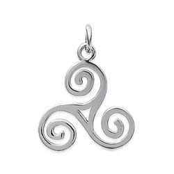 Pendentif argent 925/000 Triskel celtique Bretagne obrillant-bijoux