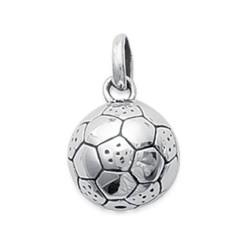 Pendentif argent massif 925/1000 ballon de football sport mixte obrillant-bijoux