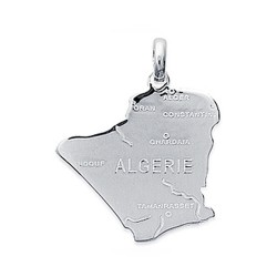 Obrillant-Bijoux Pendentif en Argent Massif 925//1000 rhodi/é Carte de la Guadeloupe