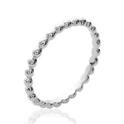 Alliance en argent massif 925 anneau fil boules billes Obrillant-Bijoux