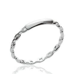 Alliance en argent massif 925 anneau fil finement ciselé style mixte  Obrillant-Bijoux