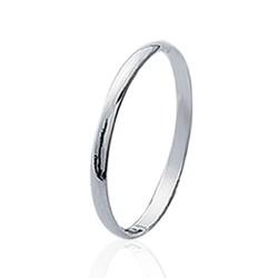 Alliance en argent massif 925 anneau fil plat 2 mm style classique Obrillant-Bijoux