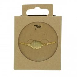 Bracelet petit nuage en laiton doré 7bis Obrillant-Bijoux