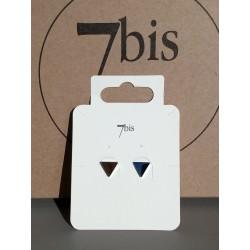 Boucles d'oreilles puces triangles en acier inoxydable argenté 7bis Obrillant-Bijoux