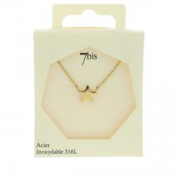 Collier petite étoile en acier inoxydable doré 7bis Obrillant-Bijoux