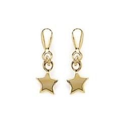 Boucles d'oreilles plaqué or pendantes petites étoiles mode obrillant-bijoux