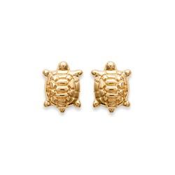 Boucles d'oreilles puces plaqué or petite tortue obrillant-bijoux