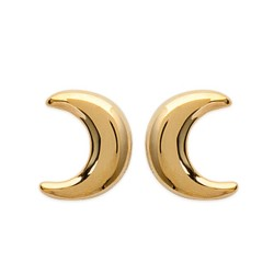 Boucles d'oreilles enfant puces plaqué or lune obrillant-bijoux