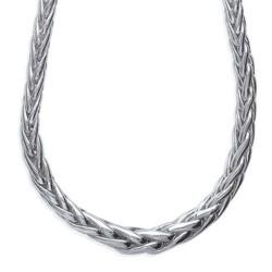 Collier argent 925/000 rhodié maille palmier obrillant-bijoux