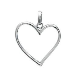 Pendentif en acier inoxydable coeur obrillant-bijoux