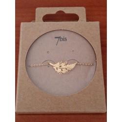 Bracelet 7bis fine plume en métal doré marque 7bis Obrillant-Bijoux