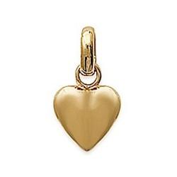Pendentif plaqué or cœur ciselé design mode obrillant-bijoux