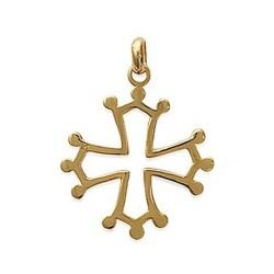 Pendentif plaqué or croix du Languedoc obrillant-bijoux