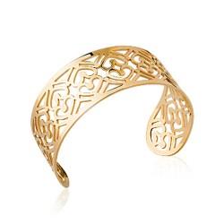 Manchette en plaqué or aux motifs de coeurs pas cher obrillant-bijoux