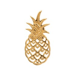 Boucles d/'oreilles puces en plaqué or Ananas fruit exotique neuf CDE