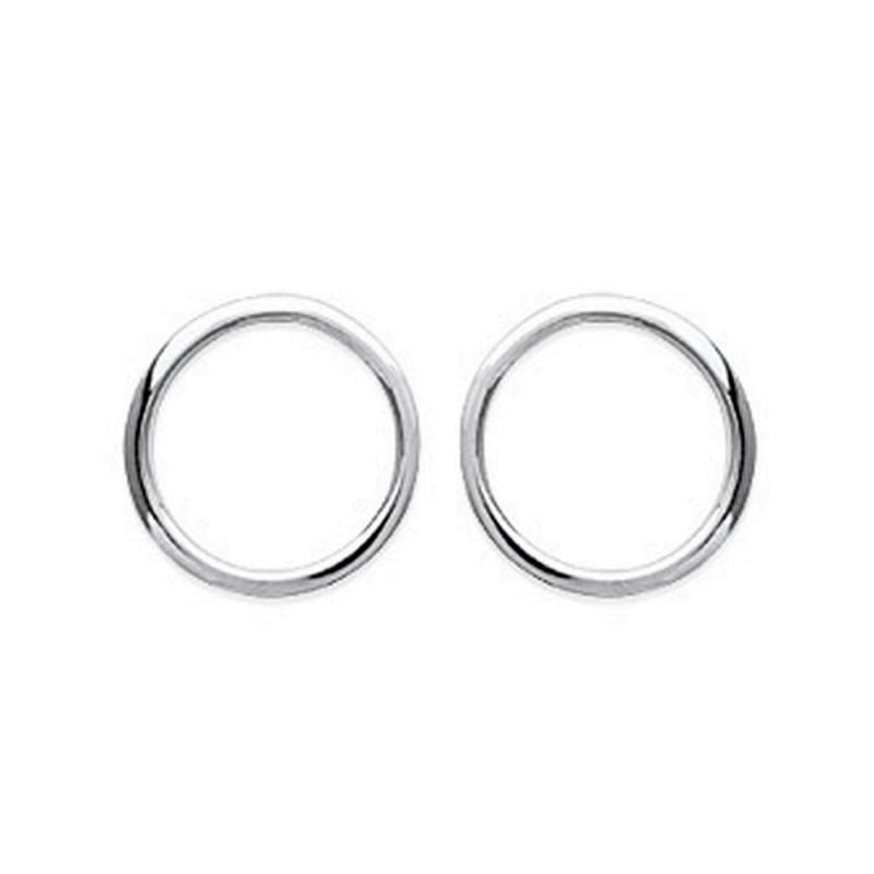meilleur service e3ddc e5f95 Boucles d'oreilles argent 925/000 anneau cercle style géométrique
