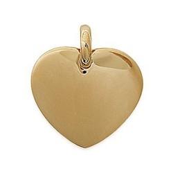 Pendentif plaqué or cœur ciselé plein mode obrillant-bijoux
