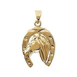 Pendentif plaqué or fer à cheval obrillant-bijoux