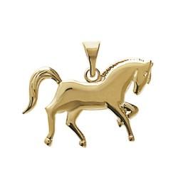 Pendentif plaqué or cheval ciselé équitation mode obrillant-bijoux