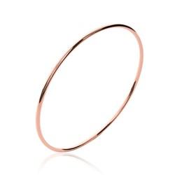 Jonc plaqué or rose fil rond 2 mm élégant et chic obrillant-bijoux