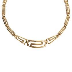 Collier en plaqué or maille style étrusque ciselée chic obrillant-bijoux