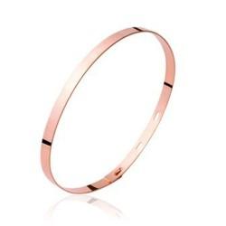 Jonc ruban réglable en plaqué or rose tendance obrillant-bijoux