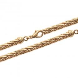 Bracelet en plaqué or maille palmier 4 mm monté à la main chic obrillant-bijoux