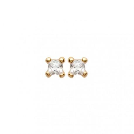Boucles d'oreilles puces plaqué or tortue ciselé mode obrillant-bijoux