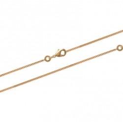 Chaîne de cheville en plaqué or maille fine Gourmette diamantée obrillant-bijoux