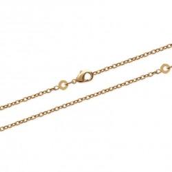 Chaîne de cheville en plaqué or maille fine Forçat diamantée obrillant-bijoux