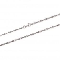 Chaîne de cheville argent 925 maille Singapour obrillant-bijoux