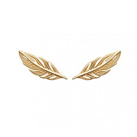 Contours d'oreilles ear cuff plaqué or plumes obrillant-bijoux