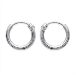 Créoles en argent 925 anneau diamètre 12 mm obrillant-bijoux