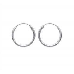 Créoles en argent 925 anneau diamètre 20 mm obrillant-bijoux