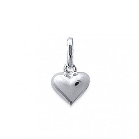 Pendentif argent 925 petit coeur discret obrillant-bijoux