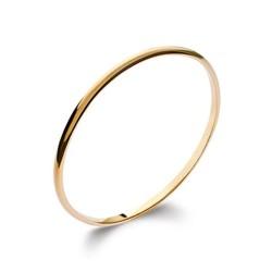 Jonc en plaqué or fil 1/2 jonc ciselé 4 mm mode obrillant-bijoux