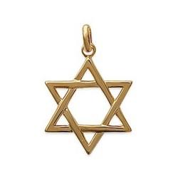 Pendentif plaqué or Etoile de david judaisme PROMO obrillant-bijoux