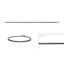 Bracelet en argent rivière de pierres en zirconium noir obrillant-bijoux