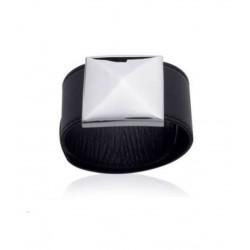 Bracelet en acier inoxydable cuir large rock clou style mixte obrillant-bijoux