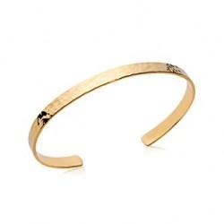 Jonc en plaqué or aspect martelé style minimaliste promotion obrillant-bijoux