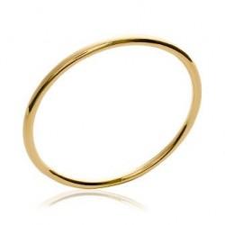 Jonc en plaqué or fil rond 4 mm diamètre 62 mm obrillant-bijoux
