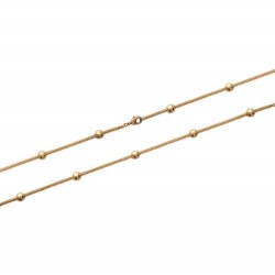 Bracelet en plaqué or maille tube popcorn petites boules promotion obrillant-bijoux