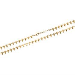 Bracelet en plaqué or petites perles boules en pampilles Obrillant-Bijoux