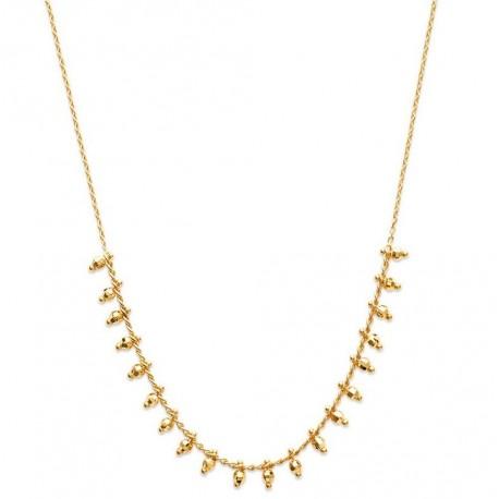 Collier en plaqué or petites perles boules en pampilles Obrillant-Bijoux
