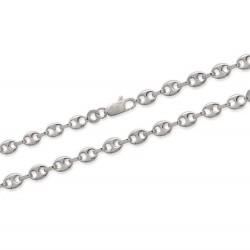 Bracelet chaine en argent 925/000 rhodié maille grains de café 3,70 mm Obrillant-Bijoux
