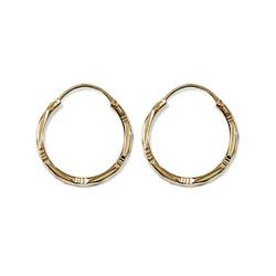 Créoles plaqué or anneaux ciselés 20 mm obrillant-bijoux